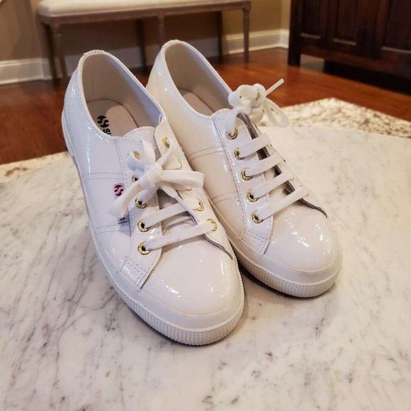 Superga White Patent Leather Sneaker
